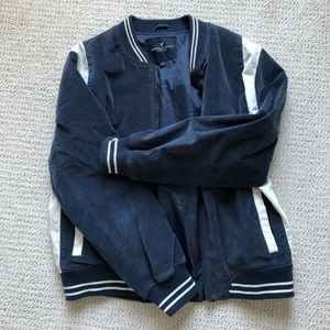 "American Eagle ""Honestly"" Bomber Jacket"